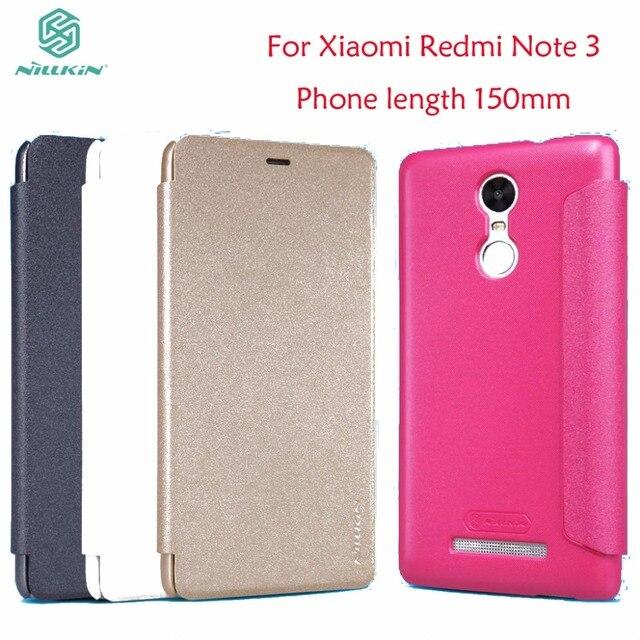 Флип чехол Nillkin для Xiaomi Redmi Note 3, блестящий кожаный чехол книжка для Xiaomi Redmi Note 3 Pro Prime, длина телефона 150 мм