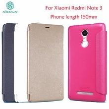 עבור Xiaomi Redmi הערה 3 Flip מקרה כיסוי Nillkin Sparkle עור Flip מקרה עבור Xiaomi Redmi הערה 3 פרו ראש טלפון אורך 150mm