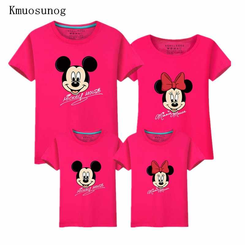fac533dfa New Dad and Me T-shirt 2019 Mother and Daughter Clothes Boys Girls Mickey  Minnie
