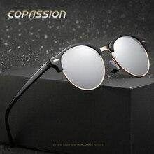 2017 de Lujo Polarizado Ronda gafas de sol de mujer de marca diseñador gafas de sol para hombre de los hombres Masculino gafas de sol gafas de sol feminino