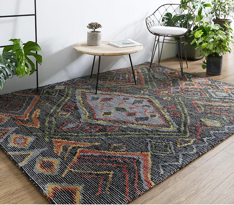 Inde laine tapis nordique géométrie Gor salon décor à la maison tapis Rectangle canapé Table tapis étude tapis de sol lit à côté du tapis