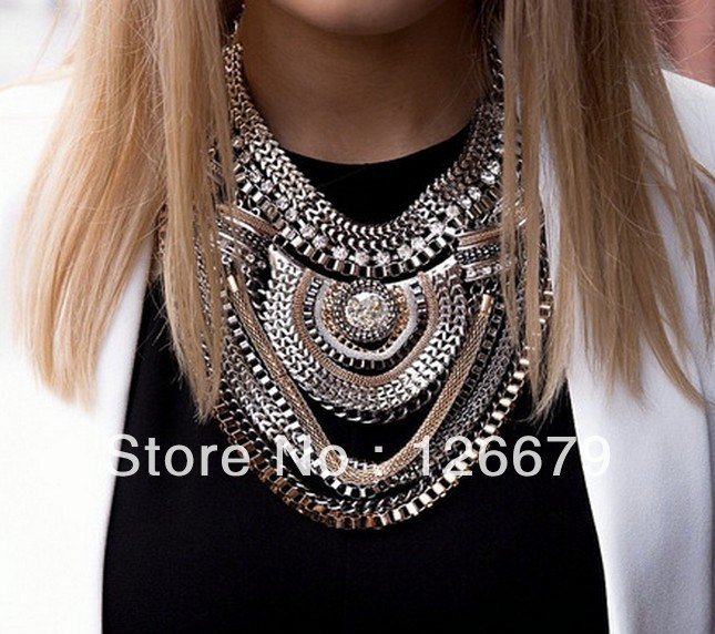 New Arrival High Quality Punk Alloy Statement Choker Nacklace for Women ...
