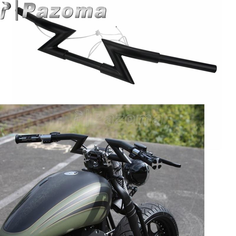 "1/"" 25 mm moto Drag Z Bar Guidon Pour Harley XL883 1200 Dyna Softail"