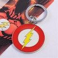 Super hero dc o homem flash relâmpago logotipo da corrente chave liga de metal chave anéis