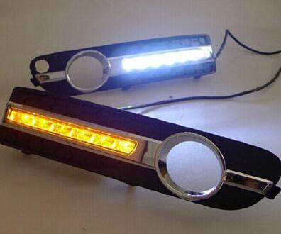 Car Stlying 12V LED Daytime Running Light DRL Fog Lamp Decoration For VOLVO S80 2009 2010 2011 2PCS sturm gc99522b