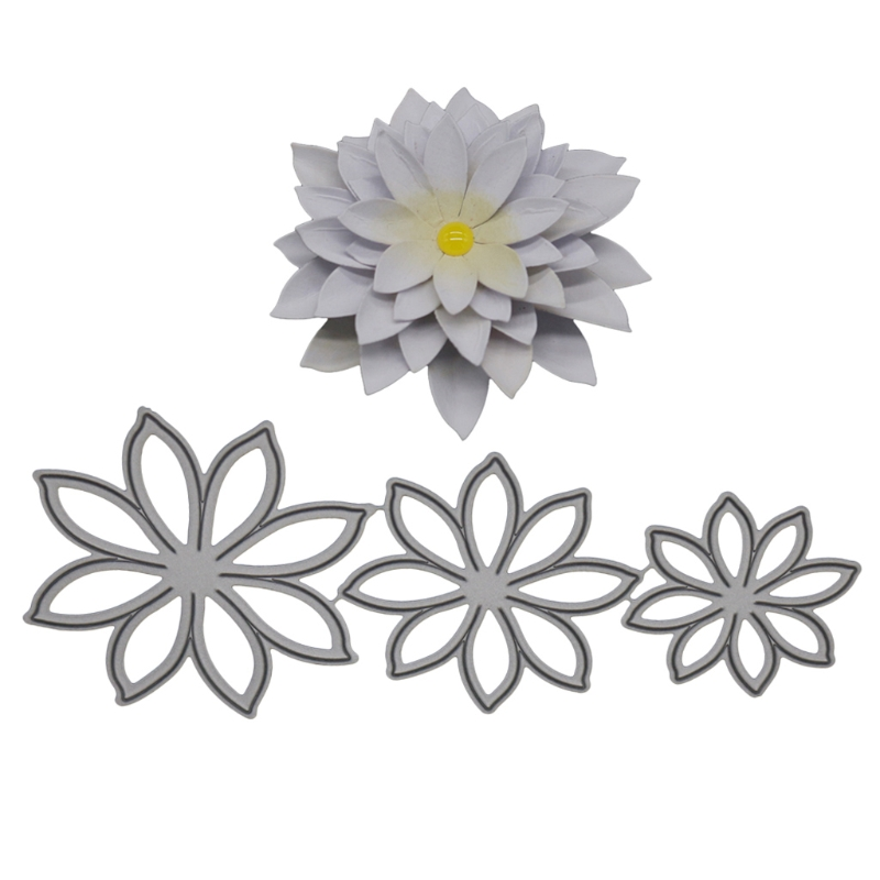 Daffodil Floral Flower Plastic Embossing Folder for Scrapbooking DIY