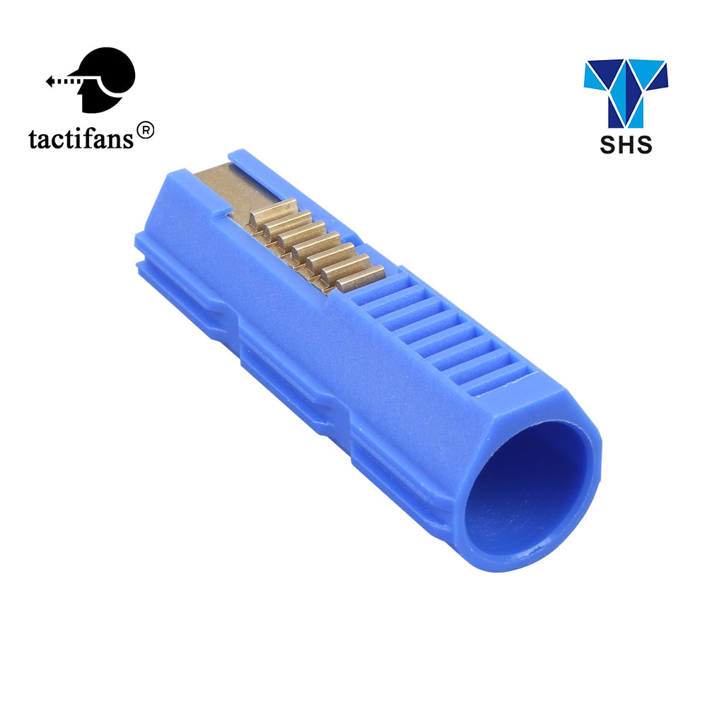 Tactifans Durable Fibre Reinforced Full Steel 7 Teeth Piston Plastic Carbon For Airsoft Ver 2/3 AEG Gearbox