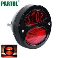 Red LED Tail Light Adjustable License Plate Bracket For Motorcycle Rear Fender Motorcycle Integrated Brake Light