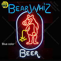NEON SIGN For Bear Whiz Beer NEON Bulbs Lamp GLASS Tube Decorate Wall Beer Bar ROOM Beer BarHandcraft Advertise shop Dropship