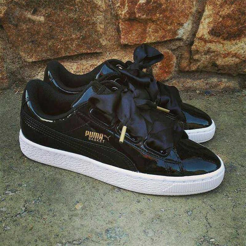 Size36 Women's Ribbon Suede Basket Satin Whiteblack 40 Original Puma Sneakers Heart Skateboarding Bow Patent New Shoe Fenty 0Owk8nP
