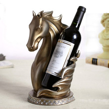 Creative Abstract Horse Head Sculpture Wine Bottle Support Ornamental Resin Barware Decoration Craftworks Accessories Suppplies