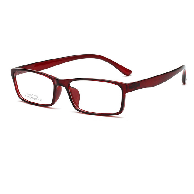 c556fc28d4 Very light square TR90 Eyeglasses Frames 2018 new fashion Men Women Plain  Mirror Eye Glasses Frame