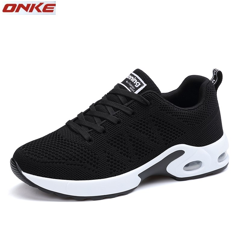 ONKE running shoes women sport shoes Height Increasing 3 cm Cushioning air Jogging Sneakers Lace Up Mesh Athletic Shoes