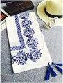 Женщины шарф, Хлопок шарф, Цветок шаль, Фарфор синий и белый, Мусульманский хиджаб, Кисточка шарф, Шали и шарфы, Бандана, Мыс