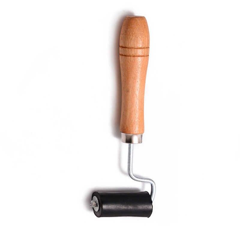 1 pc do spawania tworzyw sztucznych rolki szczotka czarny spawania naciśnij płaska z drewna uchwyt do gorącym powietrzem spawacz narzędzie Mayitr 160*46mm