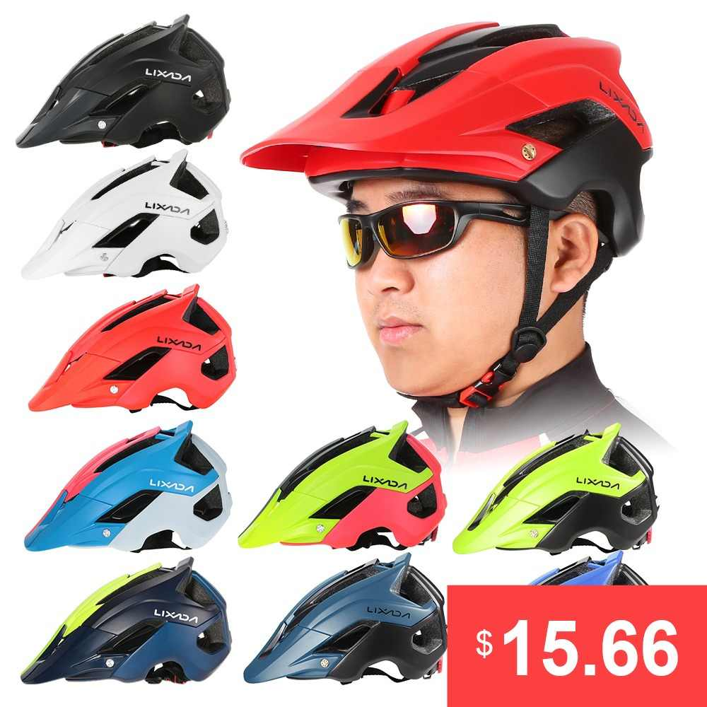 Lixada Mountain Bike Cycling Bicycle Helmet Sports Safety Protective Helmet 13 Vents MTB Cycling Bike Sports Safety Helmet