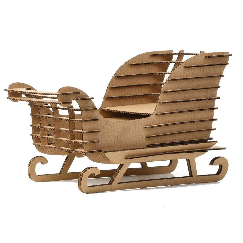 Astonishing 3D Puzzle Snow Sled Sleigh Sledge Model Paper Craft Uwap Interior Chair Design Uwaporg