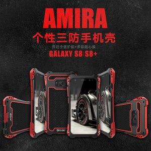 Image 5 - Dành Cho Samsung Galaxy Samsung Galaxy S10 Plus S9 S8 PLUS NOTE 9 AMIRA Chống Sốc Carbon Sợi Kim Loại Giáp Lưng Ốp Lưng galaxy Note 10 +