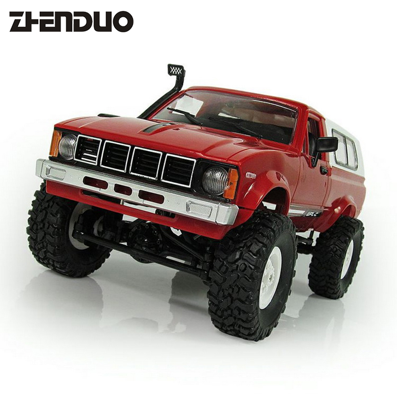 ZhenDuo Toys C-24 Radio Controlled Cars Off Road 4WD RC Car 1:16 RC Crawler Truck RC Remote Control Toy microgear radio controlled rc grasshopper flying in the air