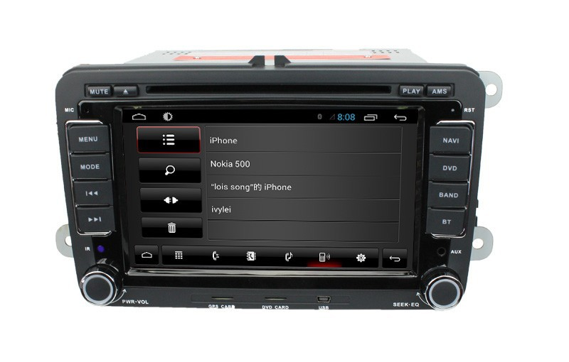 For 7 VW Universal with android 4 core cortex A9 3G Wifi Radio BT phonebook Ipod
