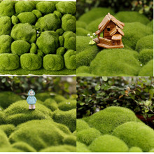 Micro landscape diy creative simulation moss fake stone ecological bottle decorative lawn office artificial grass
