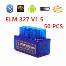 Best quality 50pcs/Lot Super MINI ELM327 V1.5 ELM 327 Bluetooth for Android Supports All OBD2 Scanner Code Reader Protocols dental x ray film reader viewer digitizer scanner usb 2 0 m 95 super cam
