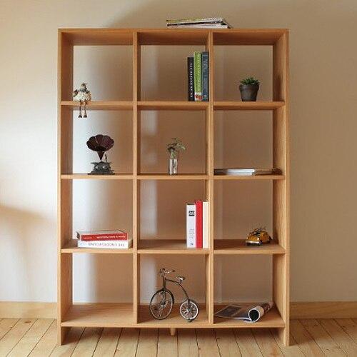 Dodge furniture wood bookcase scandinavian modern for Modern minimalist bookcase