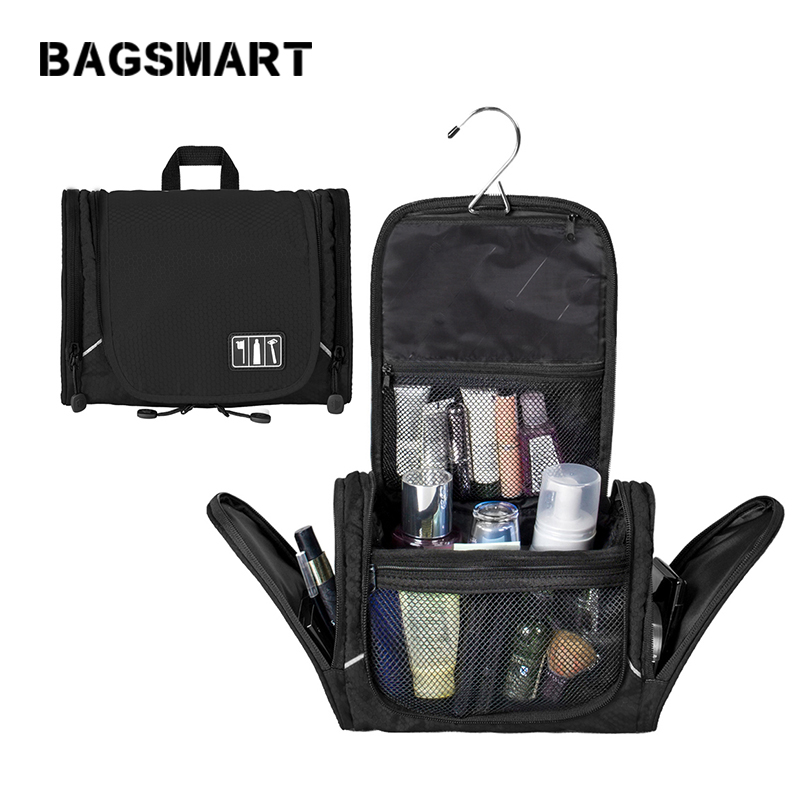 BAGSMART Unisex Travel Toiletry Bag Large Capacity Cosmetics Bags For  Makeup Watetrproof Toiletry Kit