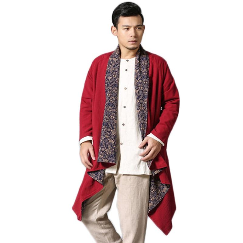 Sonbahar Erkek Trençkot pamuk keten baskı geri dönüşümlü - Erkek Giyim