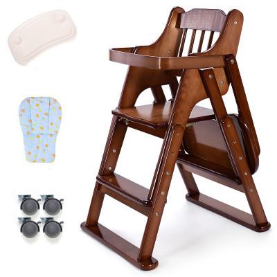 Crianças infantis comer cadeira ajustável portátil dobrável de madeira maciça multi-funcional bebês comer mesa e cadeira