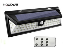 HP New Design Remote Control Waterproof 54LED Solar Light Solar Power Outdoor Garden Light PIR Motion Sensor Pathway Wall Lamp