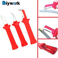 DIYWORK Hand Tools Insulation Stripping Pliers Cable Stripper Multifunction Wire Stripper Knife