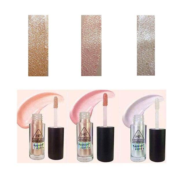 Nuovo trucco di marca oro evidenziatore liquido cosmetico contorno viso sbiancante glow shimmer liquido evidenziatore trucco
