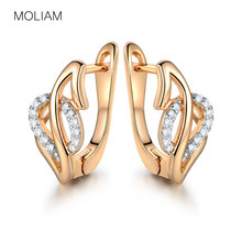 MOLIAM Small Hoop Earrings for Women Gold-Color Jewelry Cubic Zirconia Boucle D'oreille Drop Shipping MLE246
