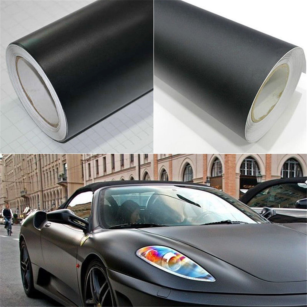 Matte Vinyl car wrapping film covering foil with air bubble free Size 1.52x3m Car Protection цена