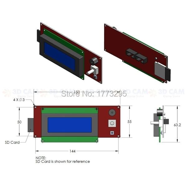 new original 1 pcs lcd display 3d printer reprap smart controller  new original 1 pcs lcd display 3d printer reprap smart controller reprap ramps 1 4 2004lcd control