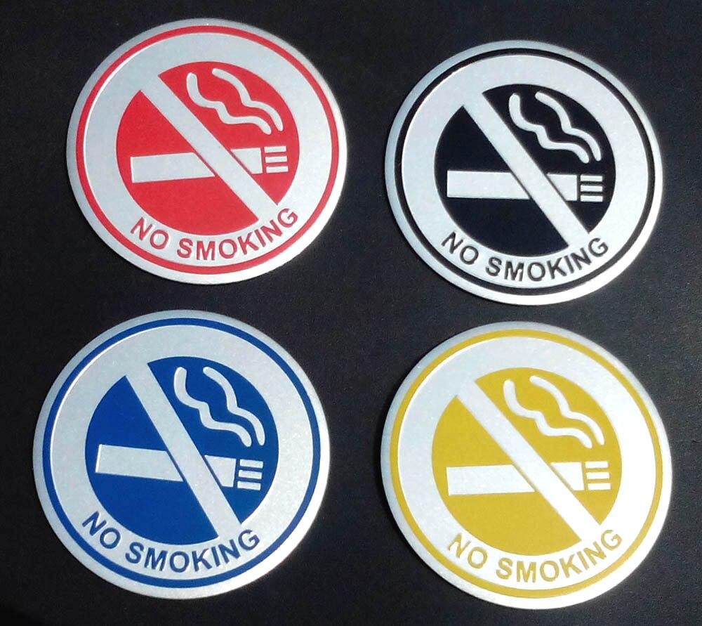 אסור לעשן מדבקת אלומיניום סמל תג רכב מדבקה לרכב סטיילינג משרד קישוט