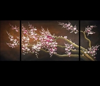 Plum Blossom 3pcs Triptych Needlework Full Square Diamond Painting Diy Cross Stitch Diamond Embroidery Mosaic Wedding