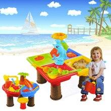 Beach Toy Set Digging Pit Kids Outdoor Bucket Water For Children Summer Sand Table Seaside Sandglass Play Desk Garden