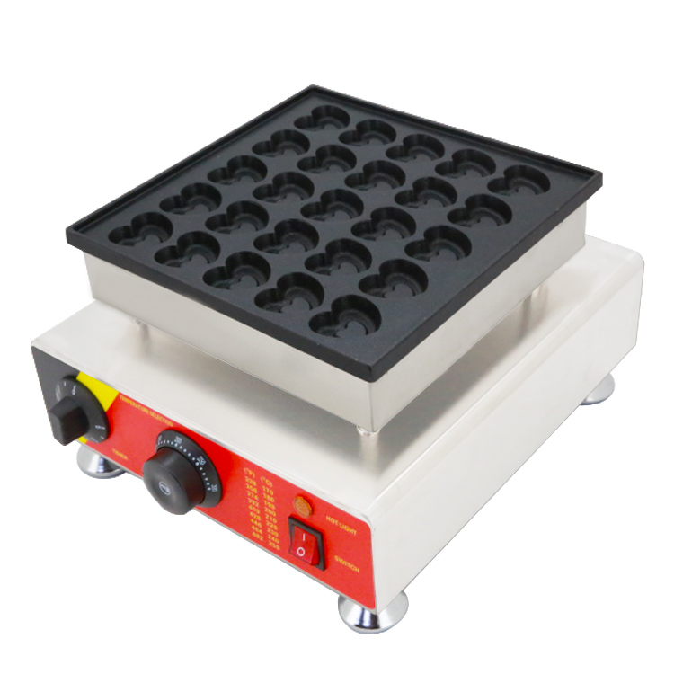 Heart Snack Dutch poffertjes maker/Heart Shaped Party Pancake Grill waffle Machine oven 25 holes with CE/Heart Cake Machine