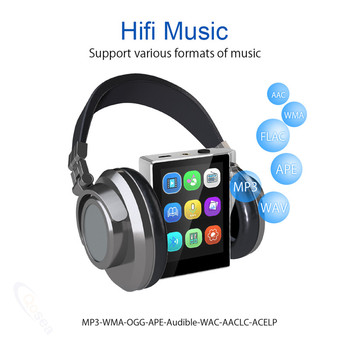 16GB 8GB MP3 Player with Bluetooth FM Radio HiFi Music Player High Resolution Lossless Digital Audio with Video E-Book Recording 1
