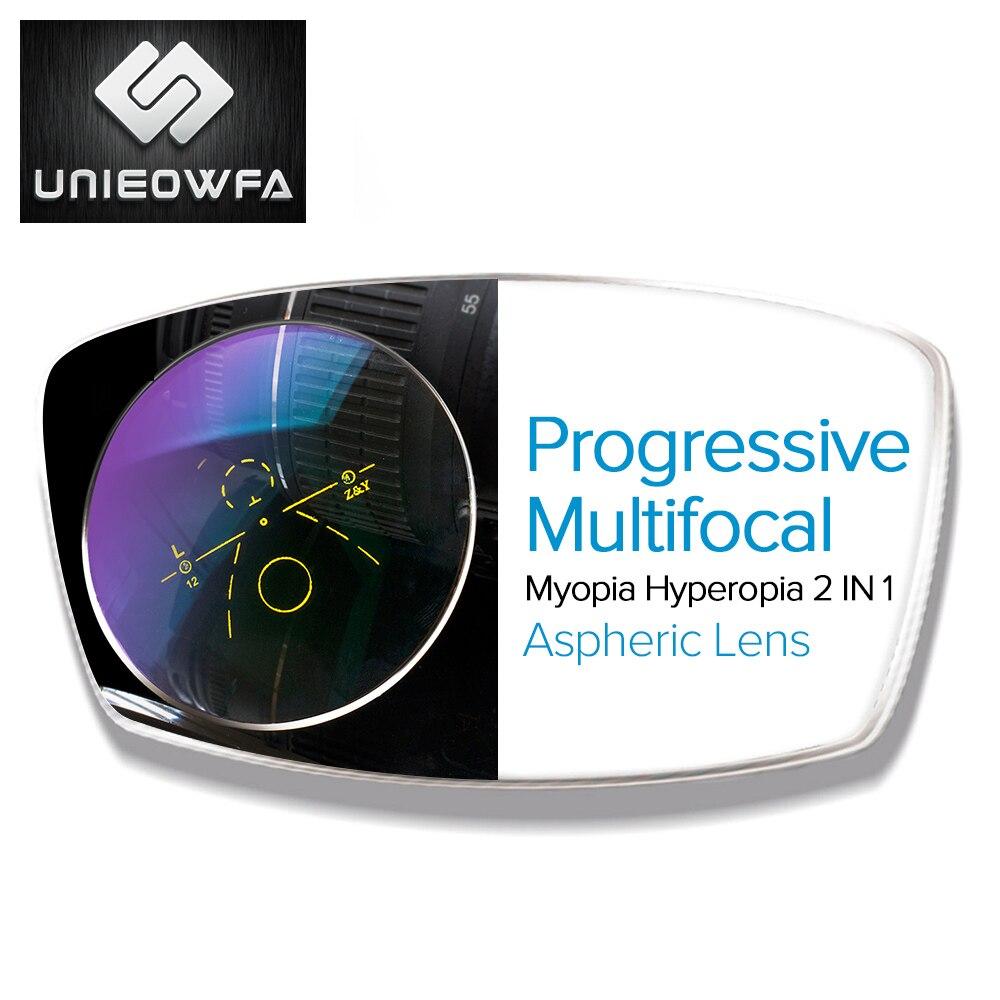 Lentille multifocale Progressive 1.56 1.61 1.67 lentilles de Prescription CR-39 lentille optique en résine myopie hyperopie lunettes lentille presbytie