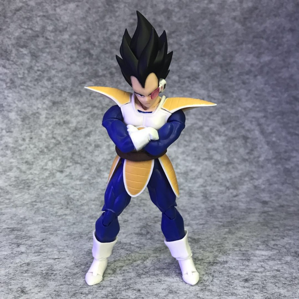SHF S.H.Figuarts Anime Dragon Ball Z Super Saiyan Vegeta Black Hair PVC Action Figure Collection Model Toys Doll 16cm