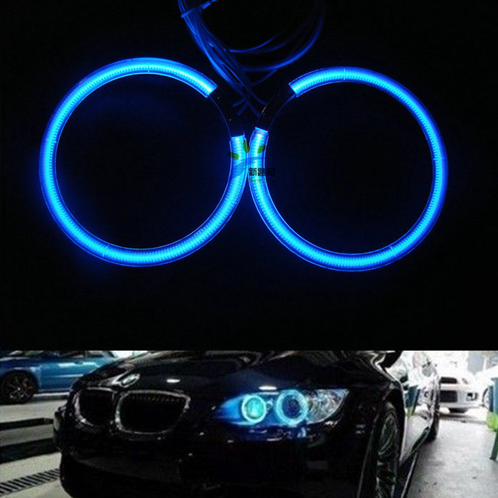 White Blue Red Green CCFL Angel Eyes for BMW E30 E32 E34 Headlight with 120MM Halo Rings and inverters ballast