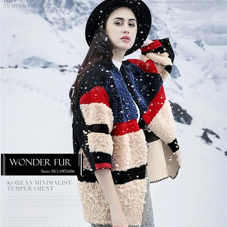 Manteau Haut Mélanges Et Style Dames Customed Coloré Fourrure Laine Collision Cachemire Colorful Veste Moutons De Robe Gamme qSBXwWHvU