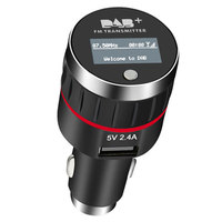Car DAB+ Radio Receiver FM Transmitter Universal Plug and Play DAB+ Tuner In Car Music Player Wireless Radio 5V/2.4A USB Charger