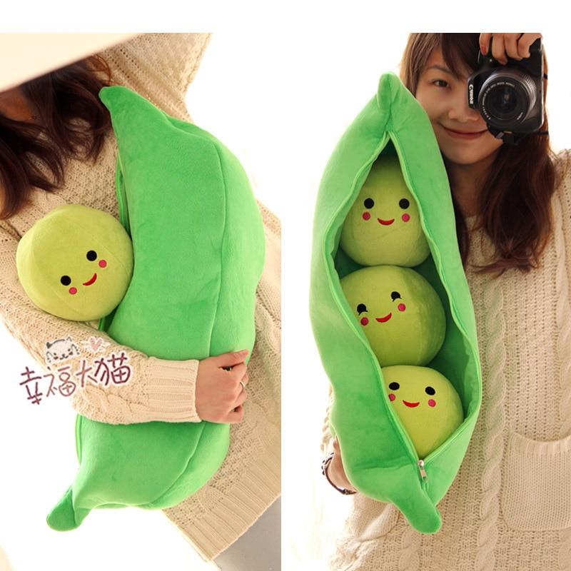 Cute Animal Pillows Diy : New Arrival High Quality Super Cute Little Peas Stuffed Plush Doll 3 Peas in a Pod Pea Toy Free ...