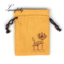 50pcs/lot 10x15cm Cotton Drawstring Gifts Bags Wedding Christmas Party Favors Packaging Jewelry Pouches Cashmere Inside Bag
