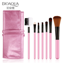 BIOAQUA 7Pcs Makeup Brushes Set Eye Lip Face Foundation Make Up Brush Kit Soft Fiber Tool JLRS