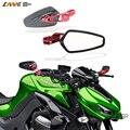 "RM-061B-RD TODAS Aluminio CNC 7/8 ""22mm espejo de la motocicleta sport bike bar end espejo para yamaha honda kawasaki suzuki ktm"